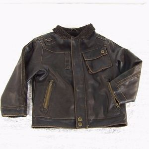 HAWKE&Co Outfitter Kids Sz 5 Faux Leather Jacket.